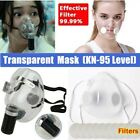 2 Types  Reusabletransparent Face Masks Anti-droplets Mouth Cover With Filters