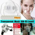 Reusable Transparent Face Masks 2 Types Anti-droplets Mouth Cover With Filters