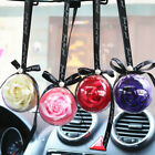 Soap Rose Flower Ball Hanging Pendant Ornament Rear View Mirror Car Pendant