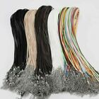 10Pcs 1.5/2mm Necklace Lobster Clasp Rope Cord String Braided Rope Pendant Charm