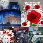 LUXURY 3D BEDDING SET HD PRINT DUVET QUILT COVER PILLOW SHAM TWIN QUEEN BED FC9