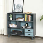 HOMCOM 3-Tier Bookcase Chest Open Shelves Home Storage Furniture w/ Drawers