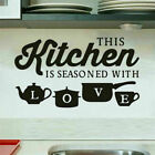 Bedroom Living Room Home Decor Kitchen Wall Stickers Vinyl Decals Removable Us
