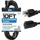 Black-Extension-Cord-with-3-Electrical-Power-Outlets-143-SJTOW-Heavy-Duty