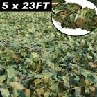 16ft/23ft Camouflage Netting Camo Army Net Woodland Camping Hunting Cover ShadeBlind & Tree Stand Accessories - 177912