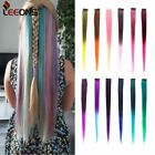 Leeons Colored Highlight Synthetic Hair Extensions Clip In One Piece Color Strip