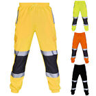 Men Hi Vis Work Pants With Reflective Stripe High Visibility Safety Trousers