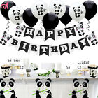 Panda Theme Birthday Party Kids Supplies Family Cocomelon Decor Plate Tablecloth