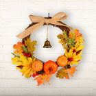 Autumn Maple Leaf Artificial Christmas Halloween Home Door Decor Garland Wreath