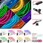 1-5M Car LED Atmosphere EL Wire String Light Neon Strip Rope  Controller 2020