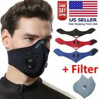 Reusable Neoprene Face Mask with Dual Air Filter Breathing Valve & Carbon Filter