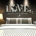 3d Love Mirror Acrylic Diy Removable Wall Stickers Decal Living Room Home Decor