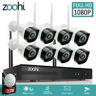 Zoohi Outdoor Security Camera System Wireless WIFI 1080P Home CCTV 1TB/2TB 4/8CH
