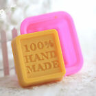 Rectangle Soap Mold Silicone Mould Fondant Baking Tray Homemade DIY Making to