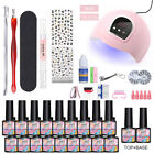 MAD DOLL 18 Bottles/set UV Gel Polish UV LED Lamp Nail Art Top Base Coat Kit