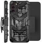Holster Case For Galaxy Note20 / Note20 Ultra 5G Phone Cover - GRAY CAMO BADGE
