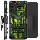 Holster Case For Galaxy Note20 / Note20 Ultra 5G Phone Cover - GREEN CAMO BADGE