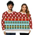 Xmas Couples Pullover Christmas Jumper Sweatshirt Lovers Xmas Funny Sweater Tops