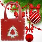 1pc Cute Christmas Tree Gift Bags Festive Candy Present Packing Storage E9z9