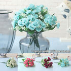 15 Heads Rose Artificial Flowers Fake Bouquet Bride Wedding Home Party Decor Aus