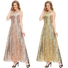 Women's Bridesmaid Sequined Evening Party Formal Wedding Ball Prom Gown Dress