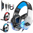 3.5mm Gaming Headset Mic LED Headphones Stereo Bass Surround For PC Xbox One PS5