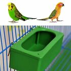 Plastic Green Parrot Food Water Bowl Cups Bird Pigeons Cage Feeder Drinker S/M/L