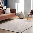 nuLOOM Hand Tufted Plush Zebra Area Rug in Pink