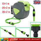 Retractable Water Hose Reel Automatic Wall Mounted Garden Watering 10+1 20/30+2m