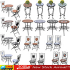 1/2/3 pcs Mosaic Bistro Set Outdoor Patio Garden Table and Chairs Metal Frame UK