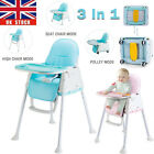 3 in 1 Travel Portable Baby Toddler High Chair Infant Child Folding Feeding Seat