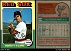 1975 Topps #255 Dwight Evans Red Sox 3 - VG