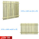 Natural Garden Fence Impregnated Pinewood Outdoor Panel Barrier 1.7x1/1.5m Green