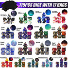 28-119Pcs For Dragons DND RPG MTG Board Game Acrylic Polyhedral Dice