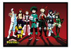 My Hero Academia Line Up Poster MAGNETIC NOTICE BOARD Inc Magnets | UK Seller