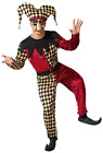 Mens Bell Harlequin Jester Circus Performer Carnival Fancy Dress Costume XS-XL