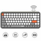 Ajazz Wireless Bluetooth Keyboard Mini Retro Round Key Home Office Keyboard 308i