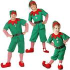 Kids Adult Christmas Elf Fancy Dress Xmas Party Cosplay Costume Santa Hat Outfit