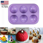 3d Half Ball 6 Cell Silicone Chocolate Mold Sphere Cupcake Cake Baking Mold Gift