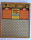 ANTIQUEHARLICK'S ORIGINAL JACKPOT CHARLEY UNUSED GAMBLING PUNCH GAME BOARD W KEY