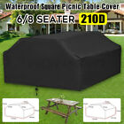 Waterproof Garden Patio Picnic Furniture Rain Cover Square Outdoor Table Chairs