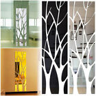 Mirror Surface Stickers Tree Shape Decal 3d Acrylic Mural Wall Art Home Decor