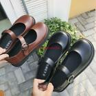 Womens Cute Mary Jane Buckle Round Toe Preppy style slip on Loafer Flat Shoes