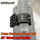 Ohhunt 45 Degree Offset Low Rifle Picatinny Weaver Rail Mount For Laser Scope
