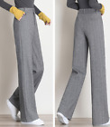 New high waist wide leg trousers for women long pants