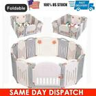 14 Panel Foldable Baby Playpen Kids Panel Safety Child Play Center Yard Indoor
