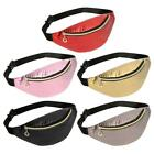 Fashion Pure Color Women Shoulder Waist Fanny Belt Packs Leather Chest Bags