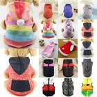 Pet Puppy Dog Cat Hooded Jumper Knit Sweater Padded Clothes Jacket Coat Apparel