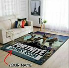 Rugs for living room- Customized Name Fortnit3 Area Rug Christmas Gift Game R...