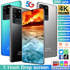 "7.1"" Large Screen Smartphone Android 10.0 Quad Core 4 Sim Unlocked Mobile Phone"